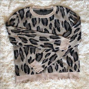 Vici animal print sweater. Never worn. NWOT